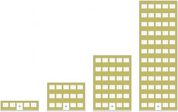 Zateplení budovy dle požární výšky: jednopodlažní budova, do 12 m včetně, od 12 do 22,5 m včetně, 22,5 m a více