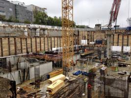 Obr. 9: Výstavba podzemních podlaží
