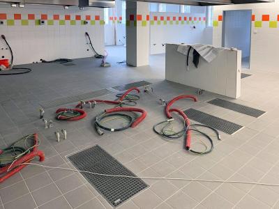 Rekonstrukce kuchyně základní školy umístěné v suterénu za pomoci produktů MEA