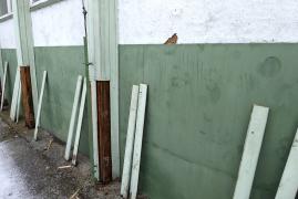 Obr. 2: Plechový obklad bočnej steny