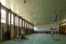 Obr. 9: Obkladanie opravených stĺpov
