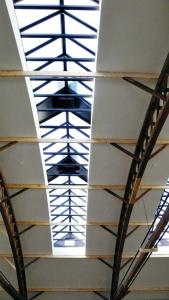 Začlenění staré průmyslové haly do objektů Palmovka Open Parku
