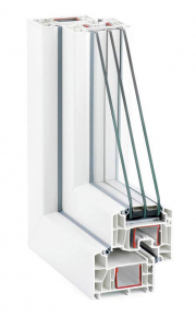 Obr. 3: Nové plastové okno s trojsklem. Energetická náročnost na jeho výrobu, dopravu a montáž je cca 150 kWh. Tohle množství energie v našich končinách představuje asi 100 kg CO2.