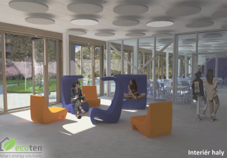Vizualizace rekonstruované školy