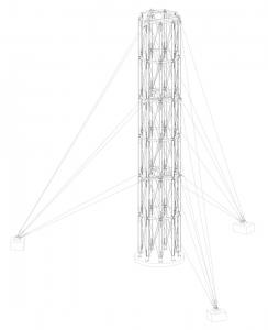 Obr. 3: Axonometrie nosné konstrukce