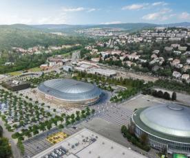 Studie nové haly na výstavišti v Brně, vizualizace A PLUS a Arch.Design