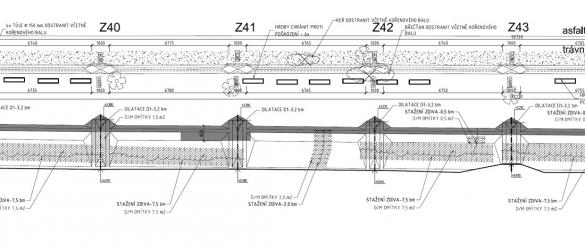 Obr. 2: Tvar konstrukce na západní straně