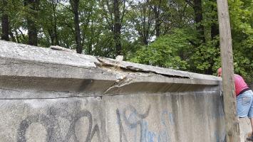 Obr. 5: Stav zdi před sanací