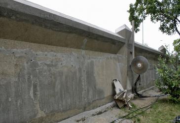 Obr. 18: Provádění dodatečných dilatací zdi diamantovým řezáním