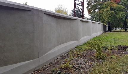 Obr. 19: Jižní úsek zdi po sanaci