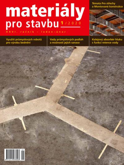 Materiály pro stavbu 1/2020