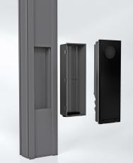 Obdélníkový výřez a samostatné instalační pouzdro umožňují rychlou a snadnou instalaci