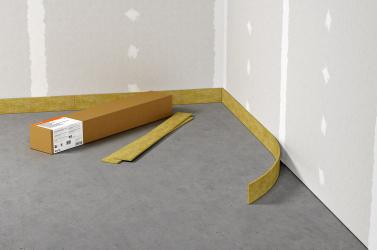 K minimalizaci přenosu kročejového hluku vedlejšími cestami je vždy nutné umístit okrajovou izolační pásku