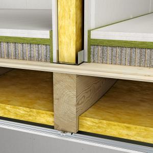 Skladba podlahy s voštinou a podlahovým prvkem fermacell 2E35