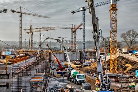 Autodomíchávače z betonárny Libeň zásobovaly stavbu ÚČOV
