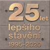 Plaketa 25 let lepšího stavění 1995–2020