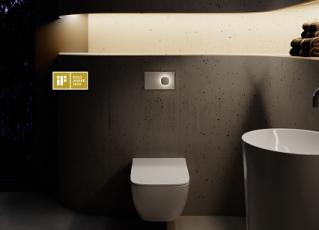 Zlatá cena na iF Design Award 2020: 78 designérských expertů z více než 20 zemí se shodlo na ocenění vynikající designérské práce na ovládací desce Visign for More 202 zlatou známkou iF Label (foto Viega).