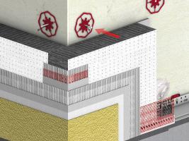 Schéma zateplovacího systému Baumit open