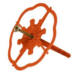 Baumit StarTrack – lepicí kotva s kovovým šroubovacím trnem zvláště vhodná pro zdivo z pórobetonu. Délka trnu 88 mm.