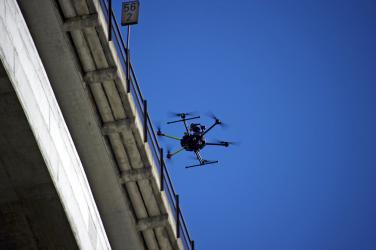 Obr. 1: Digitalizace objektu z dronu