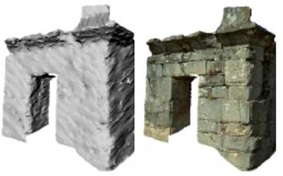 Obr. 5: Generováni 3D modelu pomocí fotogrammetrie