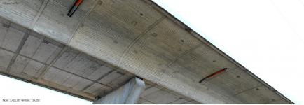 Obr. 6: Vygenerovaný 3D model mostu pomocí fotogrammetrie