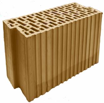 Cihelný broušený akustický blok HELUZ AKU Z 17,5 je určený pro nosné i nenosné zdivo s požadavkem na větší zvukovou izolaci