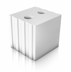 Kvádr SENDWIX 8DF-LP AKU je určen pro ruční i strojní vyzdívání akustických mezibytových stěn tl. 240 mm s parametrem laboratorní vzduchové neprůzvučnosti Rw = 57 dB
