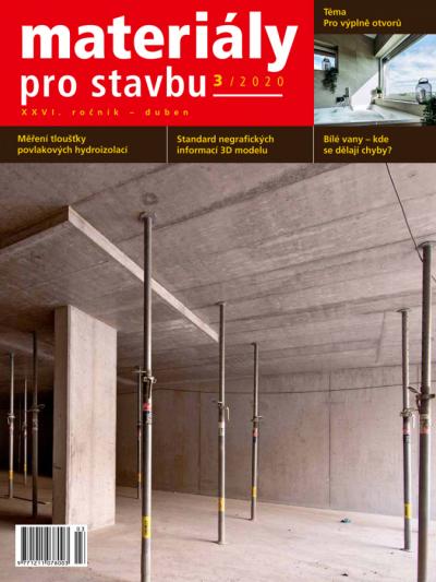 Materiály pro stavbu 3/2020