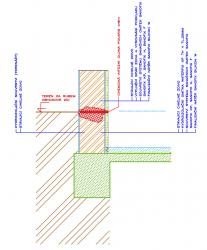 Schéma provedení izolace vlhkého zdiva pod terénem