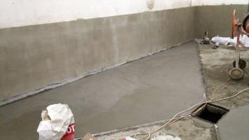 Izolace zdiva a podlahy vodotěsnou maltou WATERFIX XP TH