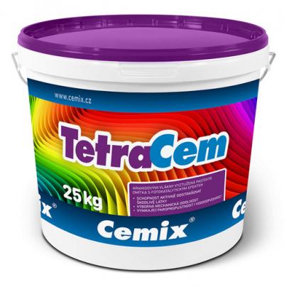 Tenkovrstvá omítka Cemix TetraCem v balení po 25 kg