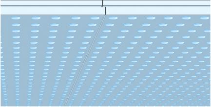 Detail hrany desky Cleaneo Linear – hrany do sebe přesně zapadnou tak, aby ze vzdálenosti 2,5 m nebyly spáry znatelné