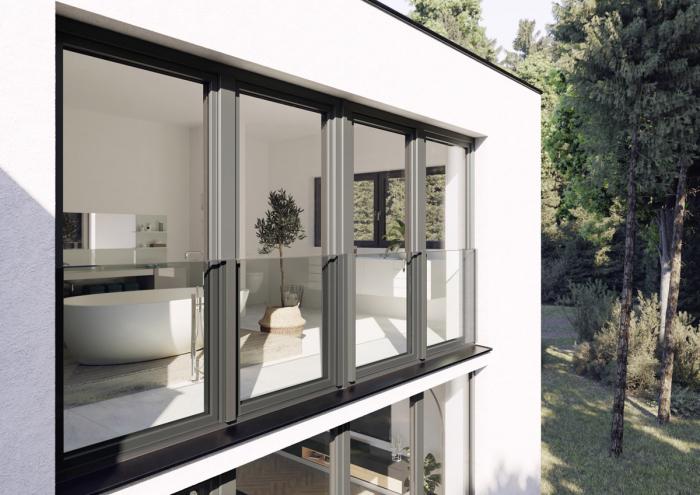 Skyforce – stylově skleněné zábradlí pro okna REHAU