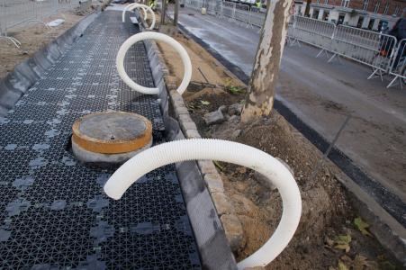 Ochranné boxy pro kořeny stromů ve městech