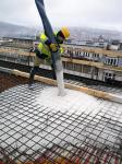 Palác DRN – betonáž bílého stropu