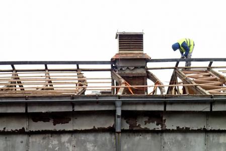 Styk opravené a deformované konstrukce během provádění