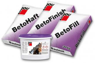 Produktová řada Baumit Beto, sestava produktů