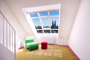 Střešní okna Solara Historik a Klasik Prosvětlení střešních bytů v památkové zóně