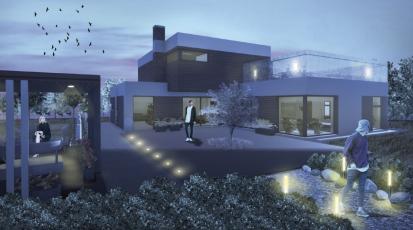 Kategorie Rodinný dům, odměna – Anuar Rachapov, SPŠ stavební a SOŠ stavební a technická Ústí nad Labem, vedoucí práce: Ing. Petr Bandas
