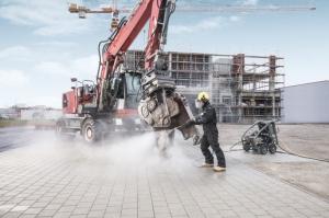 Stavební stroje se musí udržovat v čistotě
