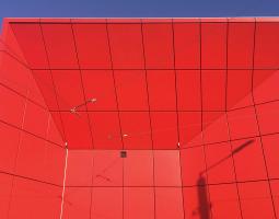 Detail spárořezu výjezdových vrat