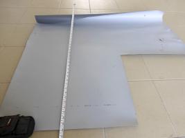 Obr. 14: Vzorky fólie: Nedostatečně velký zkušební vzorek plastové fólie o šířce 1 m s nominální šířkou fólie 1,6 m