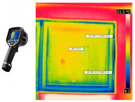 Obr. 6: Kontrola otvorové výplně termokamerou