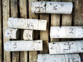 Vývrty a meranie súdržnosti vrstiev betónu