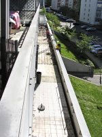 Obr. 7: Bourání všech vrstev postupně od východního konce (včetně armovaného betonu)