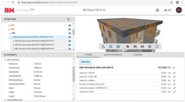 Zobrazení IFC modelu na BIM platforma