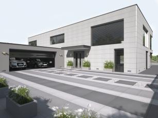 Dlažba MONUME XL, černo-bílo-šedá kombinace
