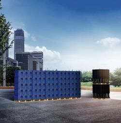 Modulární systém AquaCell - stohovatelná konstrukce (zdroj: Wavin)