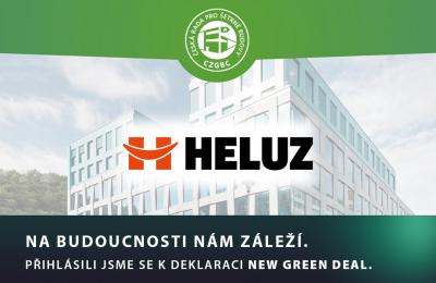 Společnost HELUZ se připojila k deklaraci NEW GREEN DEAL (zdroj: HELUZ)